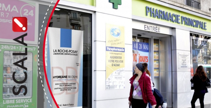 French pharmacy sales with digital signage powered by Scala